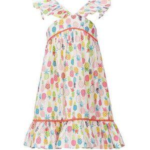 Little Girls Pineapple Print A-Line Dress